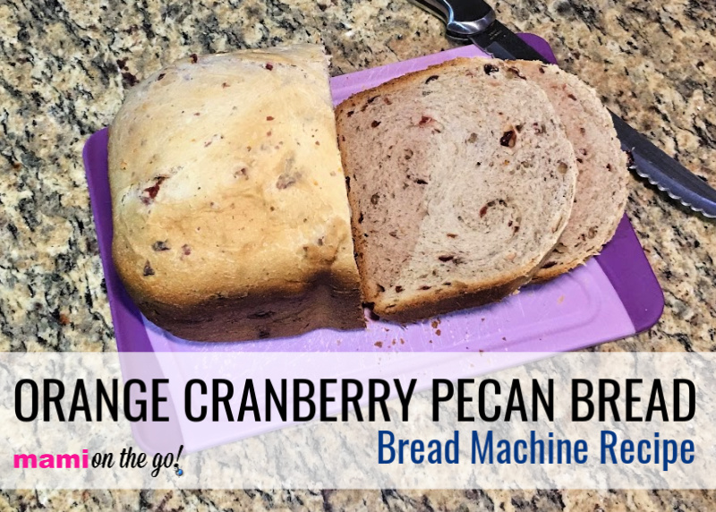 Orange Cranberry Pecan Bread (Bread Machine Recipe) | @mamionthego